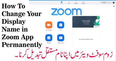 customised display name for zoom sessions